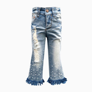 Frayed Bell Bottom Jeans