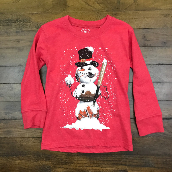 Long Sleeve Sport Snowman Tee