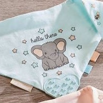Cotton Bib with Rubber Teether Lil' Elephant