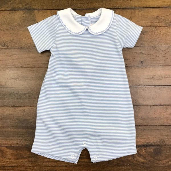 BOY ROMPER - STRIPED KNIT