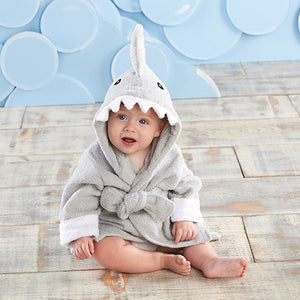 """LET THE FIN BEGIN"" SHARK HOODED SPA ROBE"