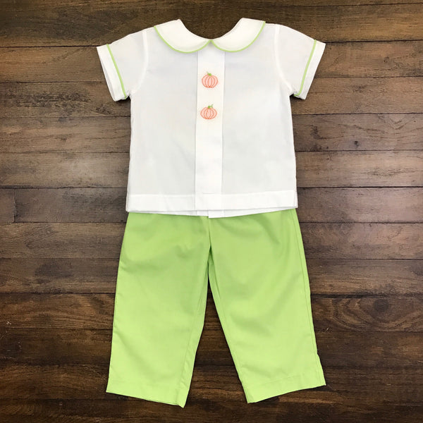 BOY PANT SET - PUMPKIN