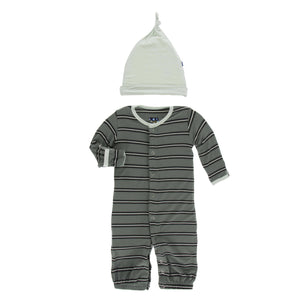 CONVERTER GOWN AND HAT - SUCCULENT KENYA STRIPE