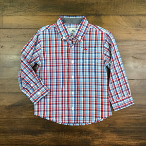 DRESS SHIRT - RED BLUE MINI