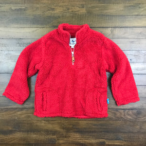 FLEECE PULLOVER - RED
