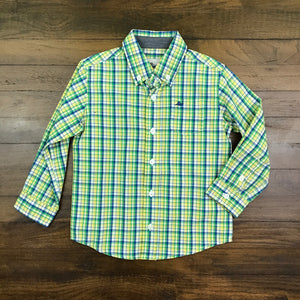 DRESS SHIRT - BLUE GREEN YELLOW