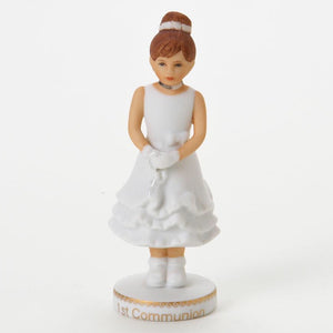 Growing up Girls-Brunette First Communion
