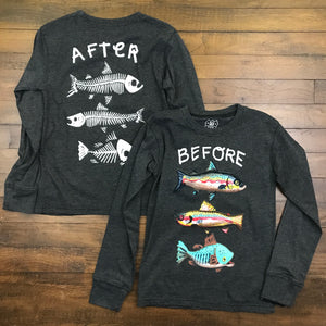 LS BEFORE AFTER FISH TEE