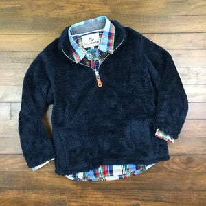 FLEECE PULLOVER - NAVY