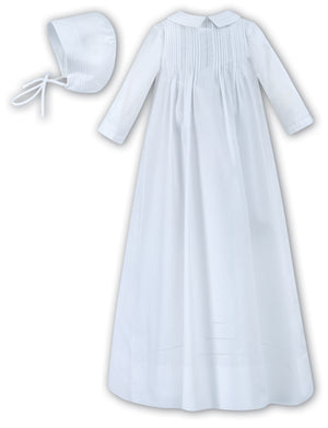 CEREMONIAL CHRISTENING GOWN WITH HAT BOYS