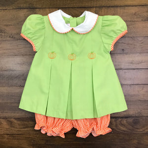 GIRLS DRESS SET - PUMPKIN
