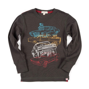GRAPHIC LONG SLEEVE TEE - CAR STACK