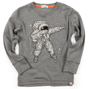 Graphic Long Sleeve Tee- Astronaut
