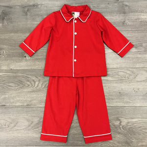 RED MONOGRAMMABLE KNIT BOYS 2PC SET