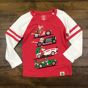 HOLIDAY RACE SLV STRP RAGLAN