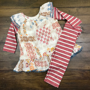 RUSTIC PATCHWORK 2PC SET