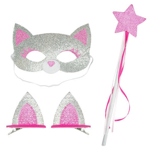 DRESS UP AND PLAY SET- SILVER CAT