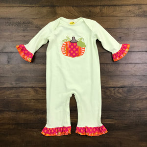 GIRL PUMPKIN KNIT ROMPER
