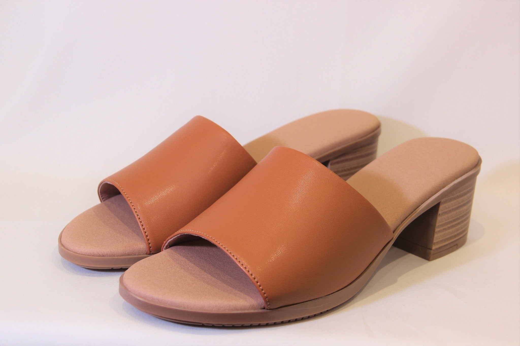 Jane Cognac Brown Mules