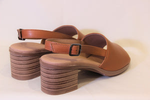 Cognac Brown Sandals