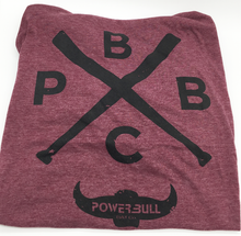 "Load image into Gallery viewer, PBBC - Powerbull Bat Co. ""Bat-X"" Tee"