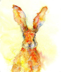 Golden Brown Hare Print