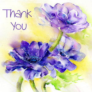 Anemone Thank You Notelet Card Pack