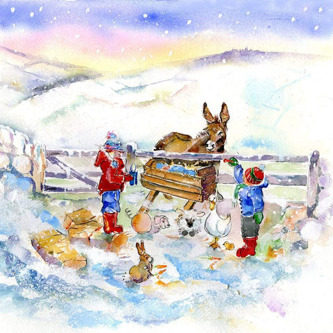 Away in a Manger Christmas Card Pack