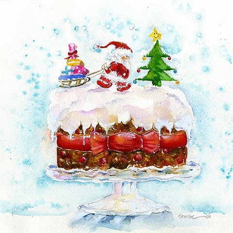 Christmas Cake Card Pack