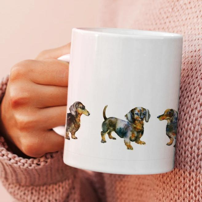 Dogs Dachshund -  China Mug