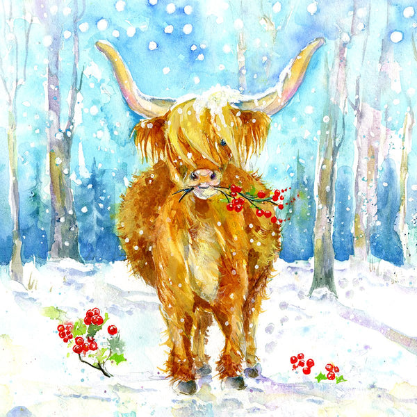 Highland Cow Christmas Card Pack