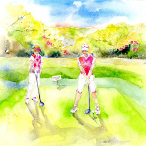 Golf Ladies - Card-Sheila Gill Fine Art