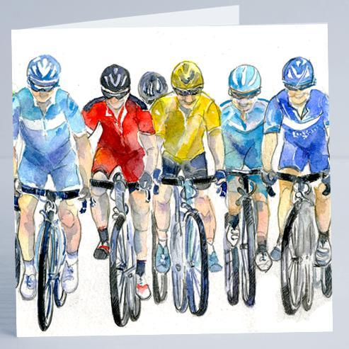 Cycling, Bike - Card-Sheila Gill Fine Art