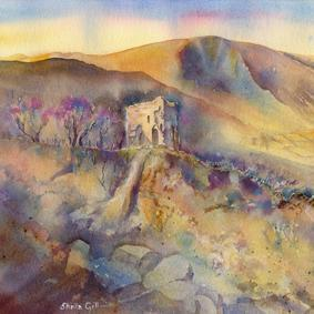Peveril Castle - Card-Sheila Gill Fine Art