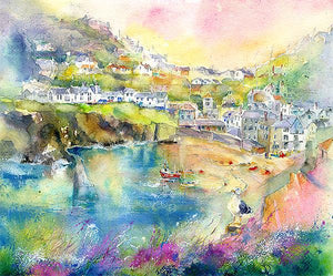 Port Isaac Harbour Cornwall Print