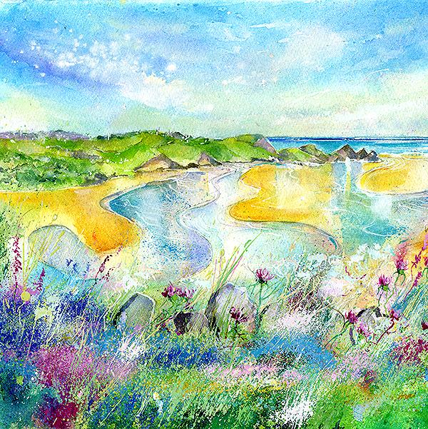 Three Cliffs Bay Gower Peninsula Print