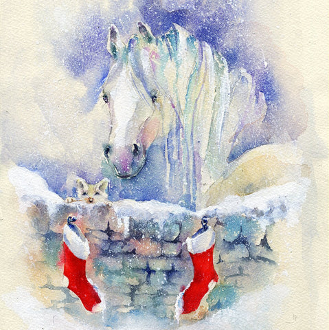 Stable Horse Christmas Card Pack