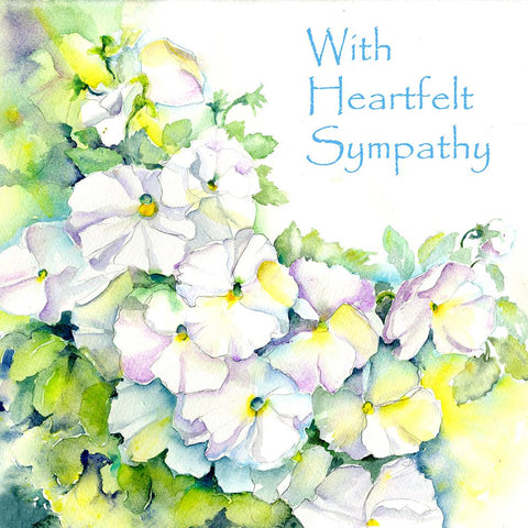 With Heartfelt Sympathy Condolence Card