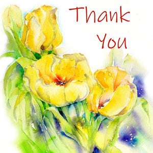 Yellow Tulips Thank You Notelet Card Pack