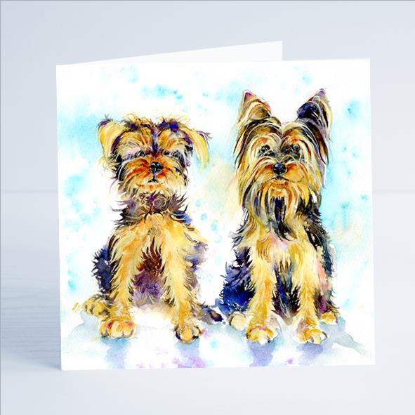 Yorkshire Terriers Card