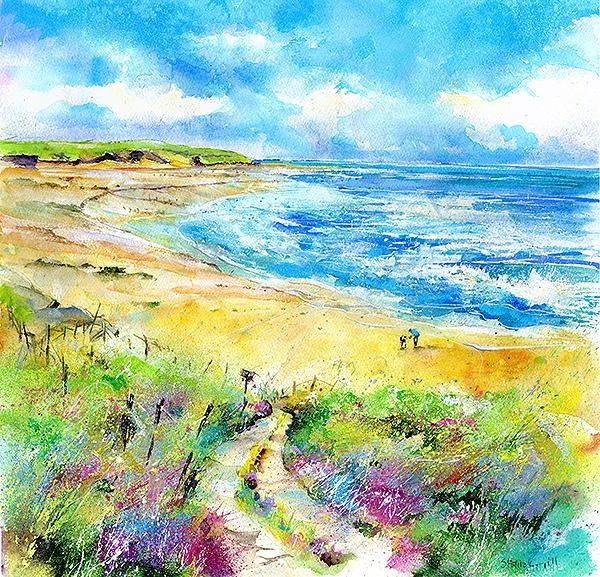 A Walk on the Beach Print
