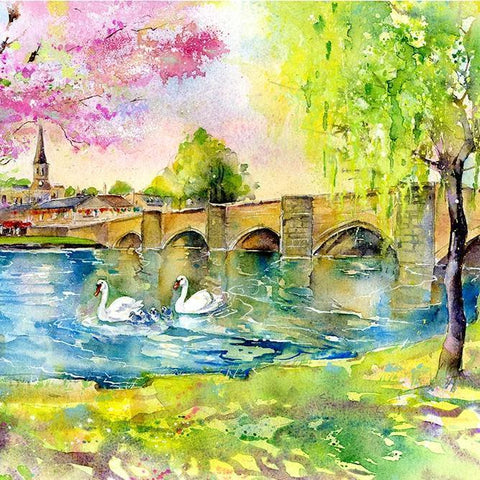 Bakewell Bridge - Card-Sheila Gill Fine Art
