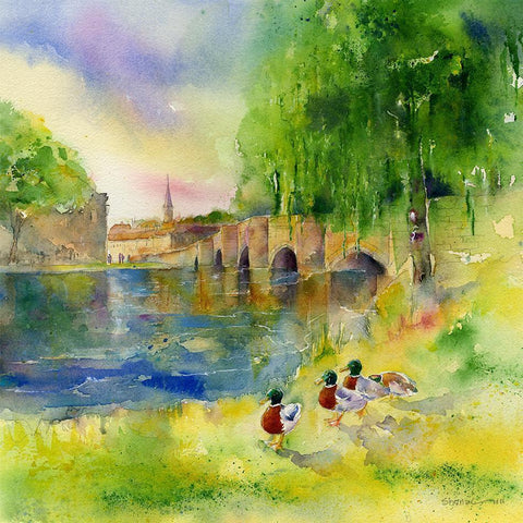 Bakewell Bridge Card-Sheila Gill Fine Art