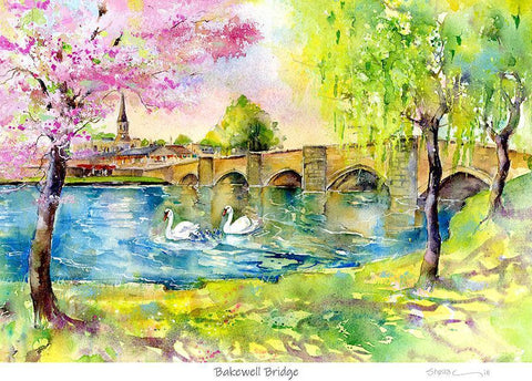 Bakewell Bridge Derbyshire Print