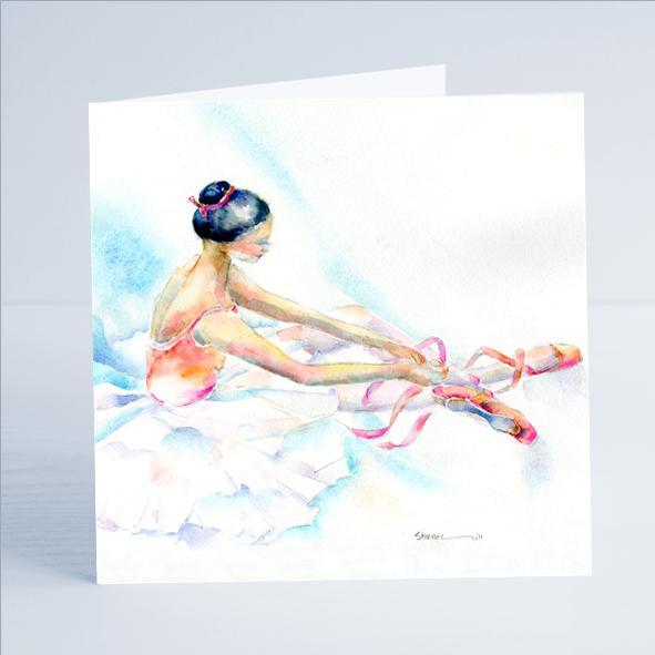 Ballet Dancer - Card-Sheila Gill Fine Art