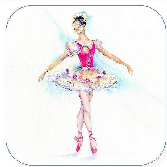 Ballet Dancer -  Coaster