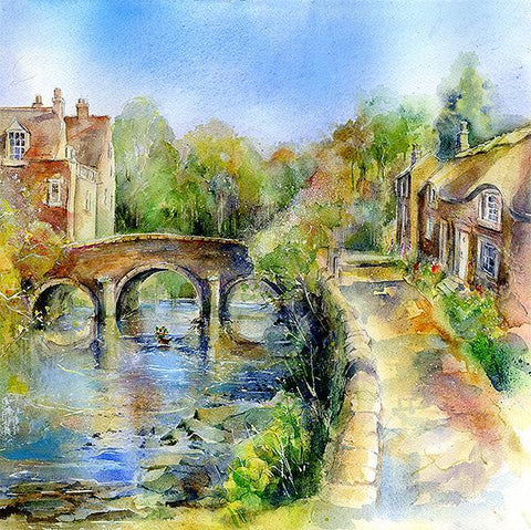 Baslow Bridge Card-Sheila Gill Fine Art