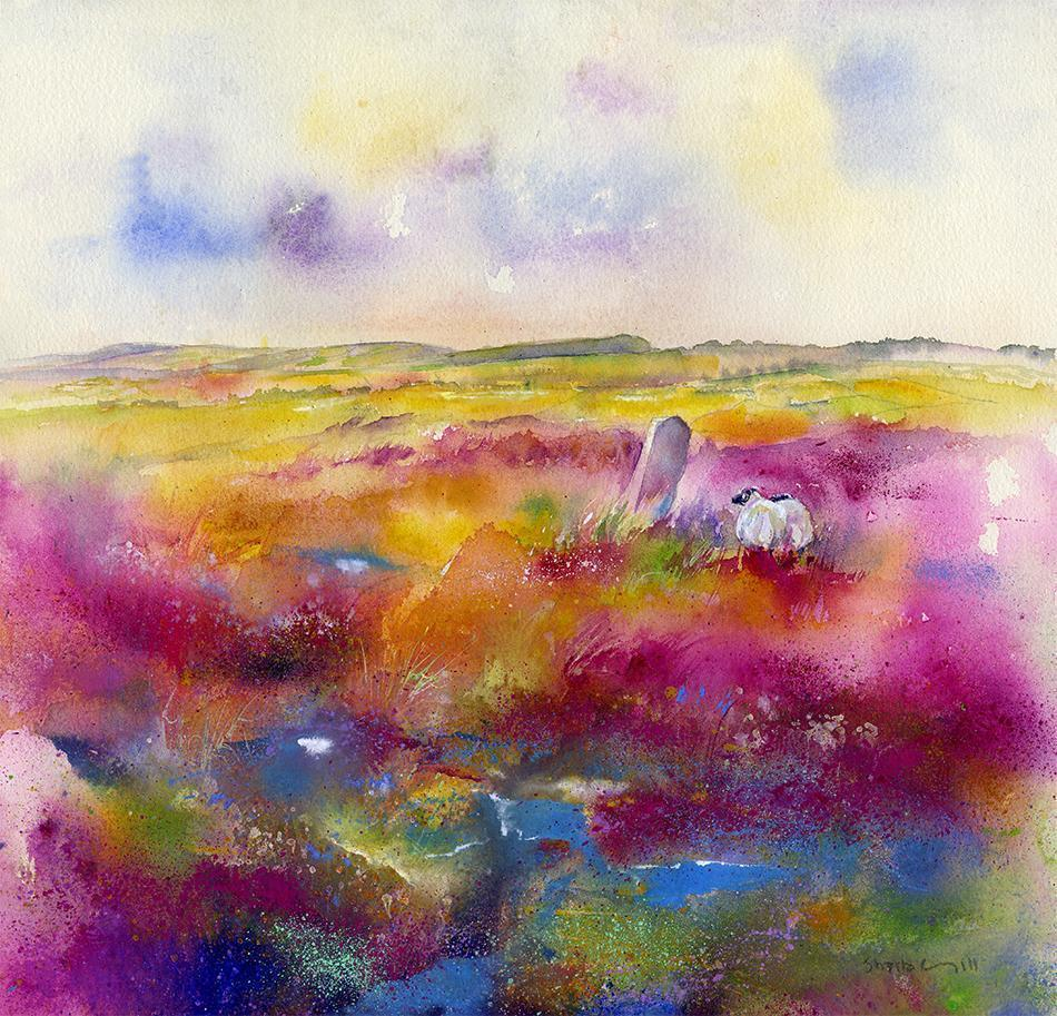 Beeley Moor - Card-Sheila Gill Fine Art