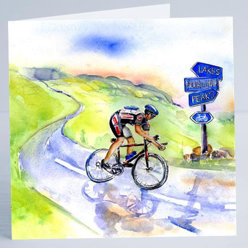 Bike Cycling - Card-Sheila Gill Fine Art