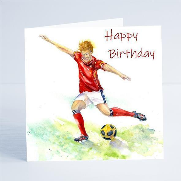 Birthday - Football Card-Sheila Gill Fine Art